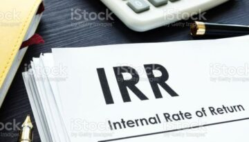 Internal Rate of Return IRR report on a table.